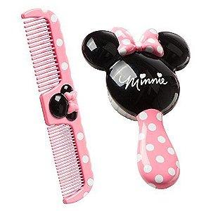 Kit escova e pente para cabelo Disney