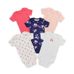 KIT 5 BODYS FLORAL CARTERS- 12M