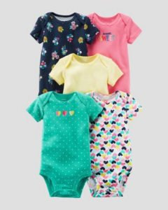 KIT 5 BODYS SWEET CARTERS- 24M