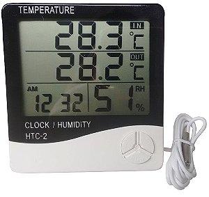 Termohigrômetro Digital Modelo HTC-02 Com Certificado de Calibração Rastreado à RBC