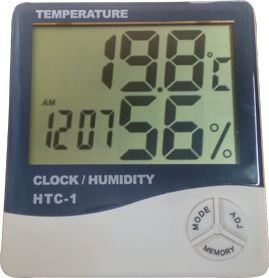 Termo-Higrômetro Digital Modelo HTC-01 Com certificado de Calibração
