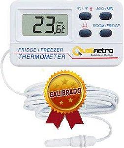 Termômetro de Geladeira Com Certificado de Calibração Rastreado à RBC