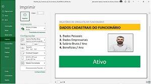 Planilha de Cadastro e Controle de Funcionários em Excel 6.0