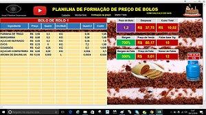 Planilha de Formação de Preço para Bolos e Tortas