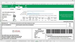 Planilha de Simulação de Nota Fiscal Eletrônica (DANFE) em Excel 6.0