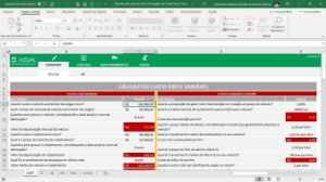 Planilha de Cálculo para Formação do Frete Peso Fracionado em Excel 6.0