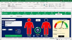 Planilha de Controle Completo de Avaliação de Desempenho em Excel 6.0