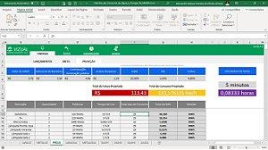Planilha de Consumo de Água e Energia em Excel 6.0