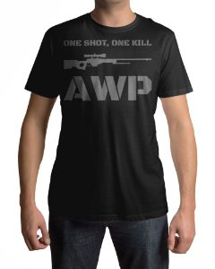 Camiseta CS:GO Counter-Strike One Shot AWP