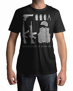 Camiseta CS:GO Counter-Strike Compra Padrão Loja