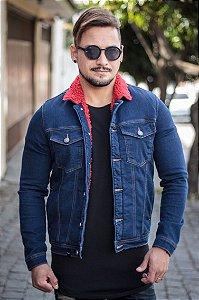 Jaqueta Effel Jeans Shee Vermelho