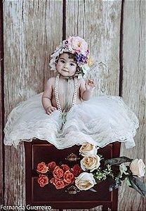 Conjunto Camponesa com flores