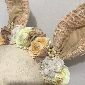 Headbnd de coelho vintage floral Clara