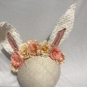 Headbnd de coelho vintage floral Liza