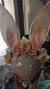 Headbnd de coelho vintage floral Thalita