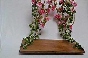 Balanço com flores
