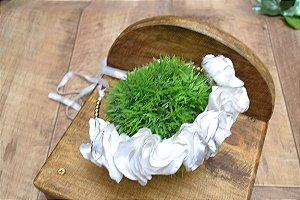 Tiara com Flor artesanal