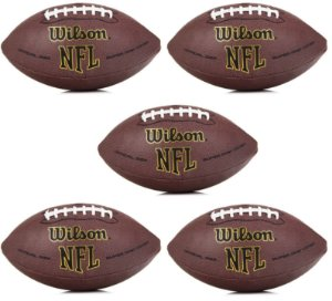 Bola Wilson NFL Super Grip  Oficial - Pack com 5