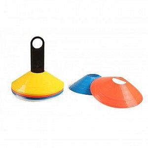 Kit com 20 Mini Cones de Agilidade