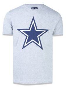 Camiseta NFL Dallas Cowboys New Era - Mescla Cinza