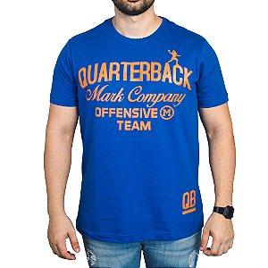 Camiseta Quarterback Mark Company - Azul