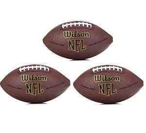 Bola Wilson NFL Super Grip  Oficial - Pack com 3