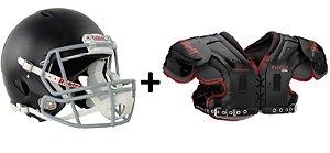 Kit Riddell - Shoulder Pad Rival Novo + Helmet Speed Recondicionado e Recertificado