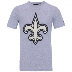 Camiseta NFL New Orleans Saints New Era - Mescla Cinza