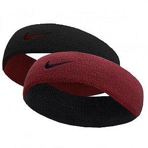 Testeira Nike Dri-Fit Dupla Face - Bordô/Preto
