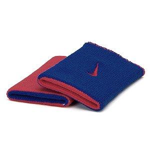 Munhequeira Nike Dri-Fit Dupla Face - Vermelho/Azul