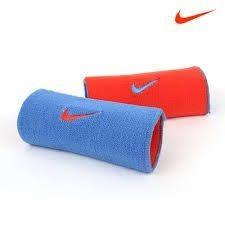 Munhequeira Nike Dri-Fit Dupla Face - Laranja/Azul