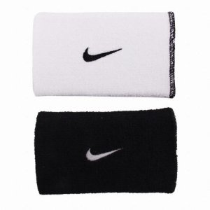 Munhequeira Nike Dri-Fit Dupla Face - Branco/Preto