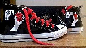 d7b0b0df1dd All Star Green Day Converse Tênis Personalizado