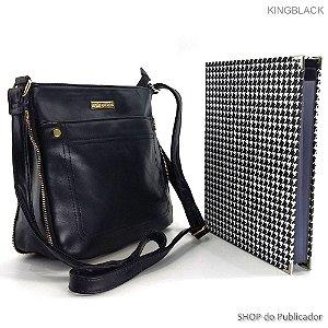 Conjunto Kingblack - Bolsa Tiracolo e Pasta para publicações