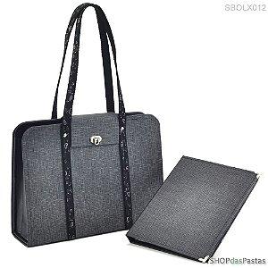 Bolsa Tote Linho Chumbo - SBOLX012