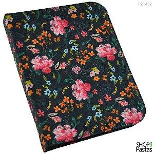 Pasta para Tablet até 10.1 - Com Zíper - Floral - PZT402