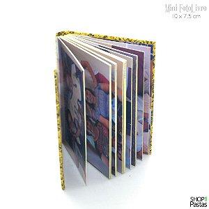 Mini FotoLivro com Capa Dura 10 x 7,5 cm - Cód MFL001