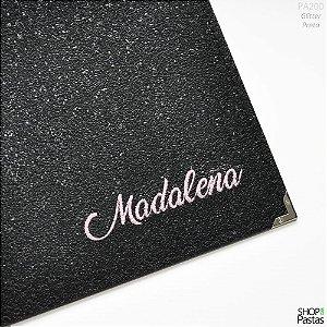 Pasta para Publicações Personalizada - Glitter Preto PA300