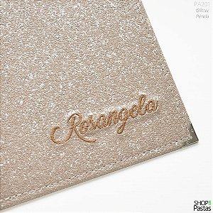 Pasta para Publicações Personalizada - Glitter Pérola PA301