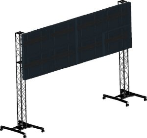 suporte para video wall 2x4
