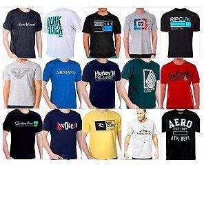 Kit com 10 Camisetas Estampadas