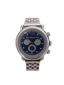 Relógio Fóssil B-Q- 2172 - Fundo Azul - Pulseira de Aço. - Sil Miranda 5144893f7e4