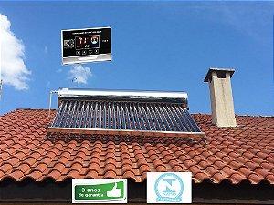 Aquecedor Solar - Tubo A Vácuo - Acoplado - 300 Litros C/ Controlador Eletrônico