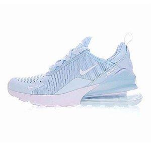 Tênis Nike Air Max 270 - Azul Claro e Branco