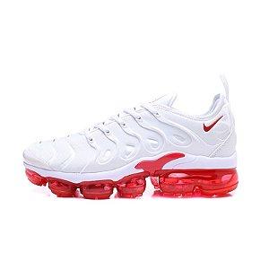 Tênis Nike Air VaporMax Plus - Branco e Vermelho