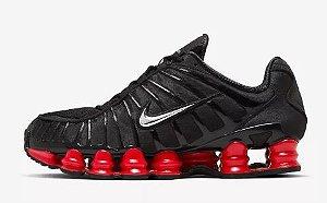 Tênis Nike Shox Tl 12 molas Neymar Jnr - Preto e Vermelho