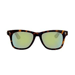 Óculos Woodlince Bamboo Lynx Tigrado Espelhado