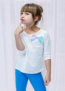 Manga 3/4 Infantil Laço Tie Dye Eco
