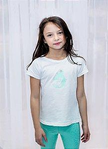 Decote Canoa Infantil Sereia Star