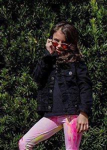 Jaqueta Jeans Color Black